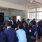 Physics lesson at Nairobi School in July 2011