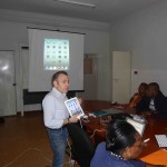 Alan Foley introducing participants to the iPad